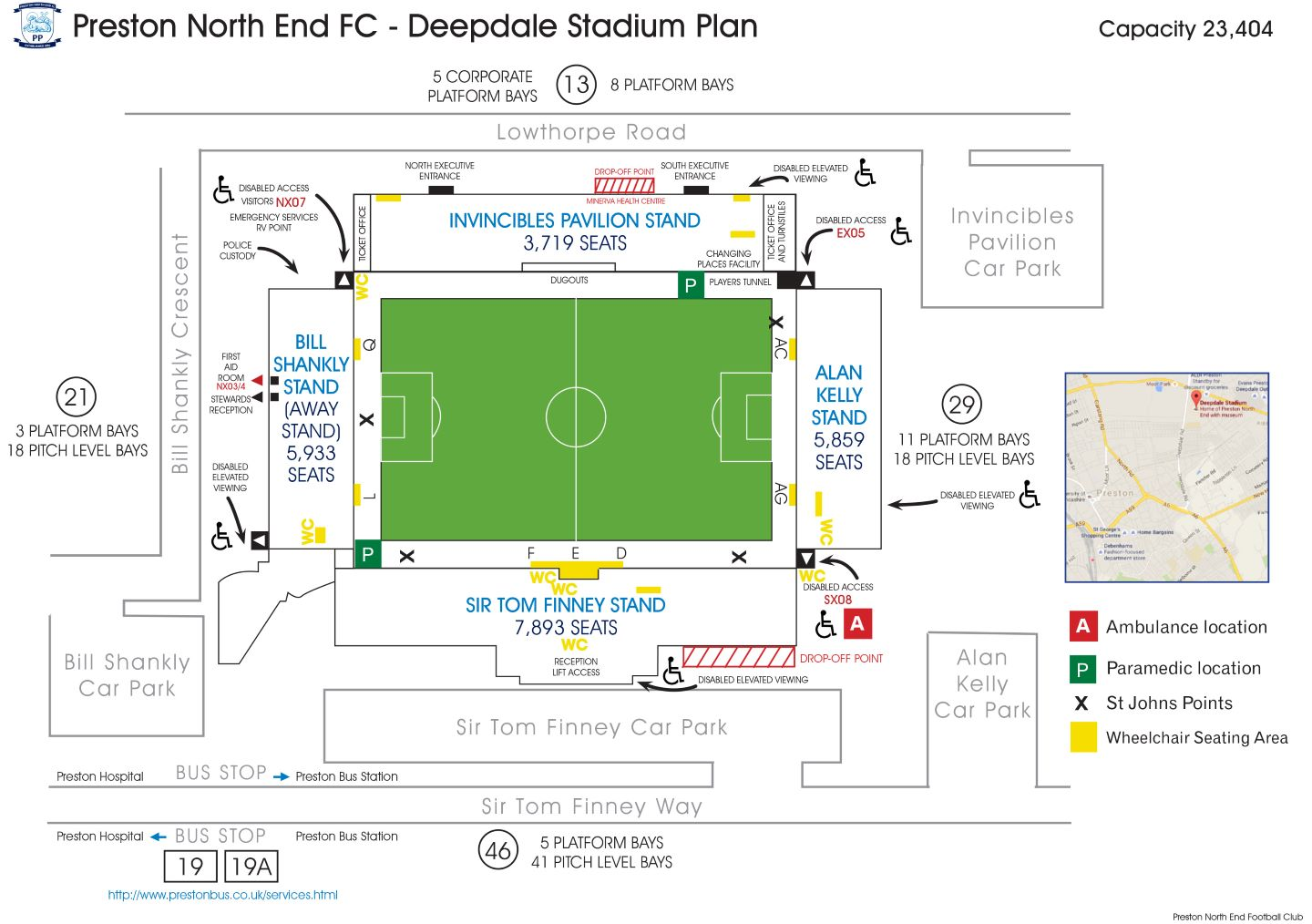 Disabled Stadium Map