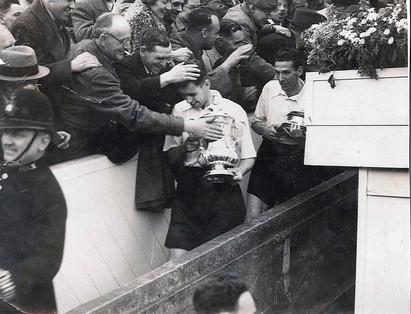 Tom Smith with the FA Cup in 1938