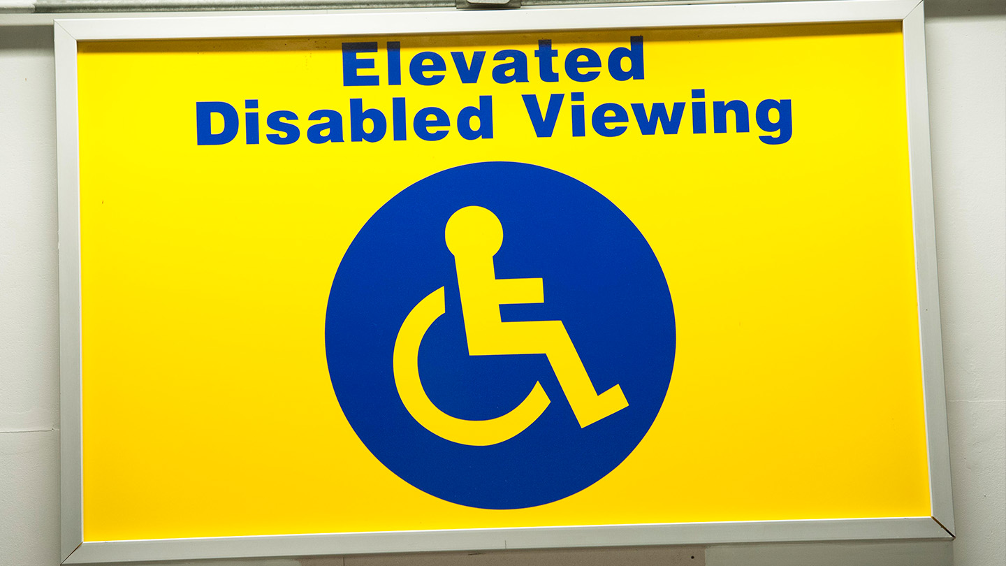 Disabled Viewing Sign