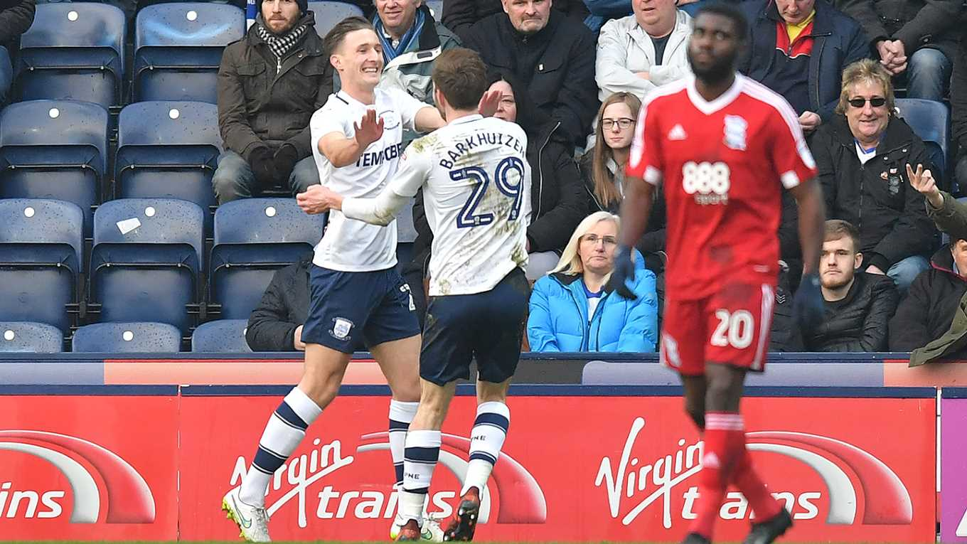 Ben Davies scored his first goal for Preston North End, but the Lilywhites were denied all three points by Sam GallagherÂ's second half equaliser at Deepdale.        Davies, fired home from close range after Paul GallagherÂ's cross had been headed back across his own six yard box by Birmingham City...