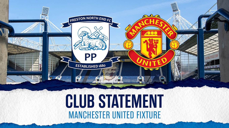 Club Statement: Manchester United Fixture - News